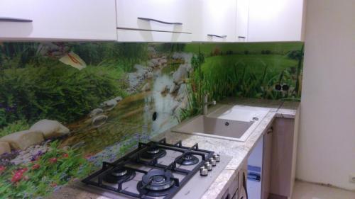 Virtuvinė sienelė su spauda